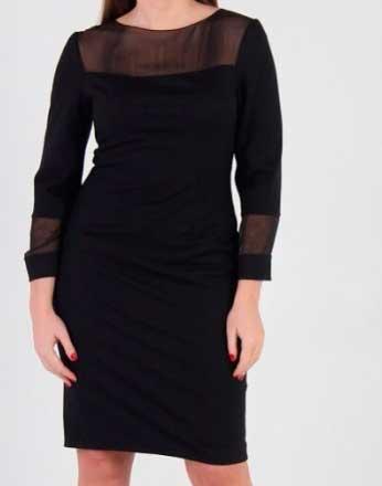 Платье кошемир и шелк