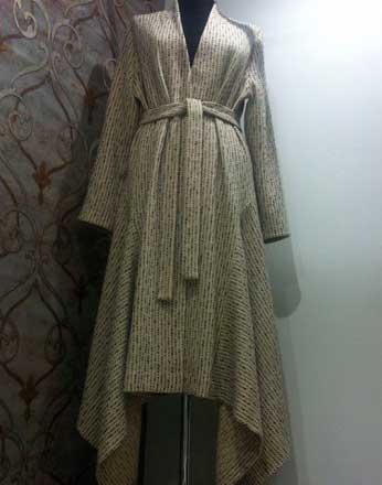 Пальто из шерсти на подкладке