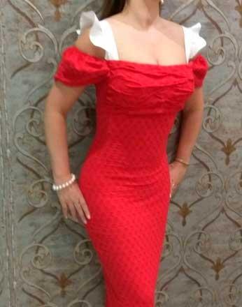 Платье из хлопка с эластаном