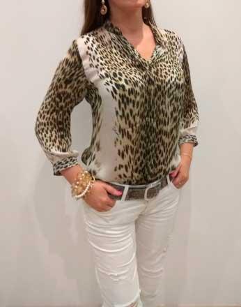 Блуза из шелка с принтом 2
