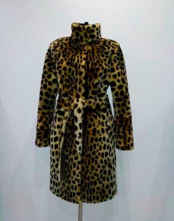 Мутоновая шуба Леопард